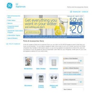 GE Parts Online eCommerce