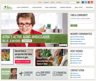 Atria Senior Living |Digital Marketing SEO PPC Case Study